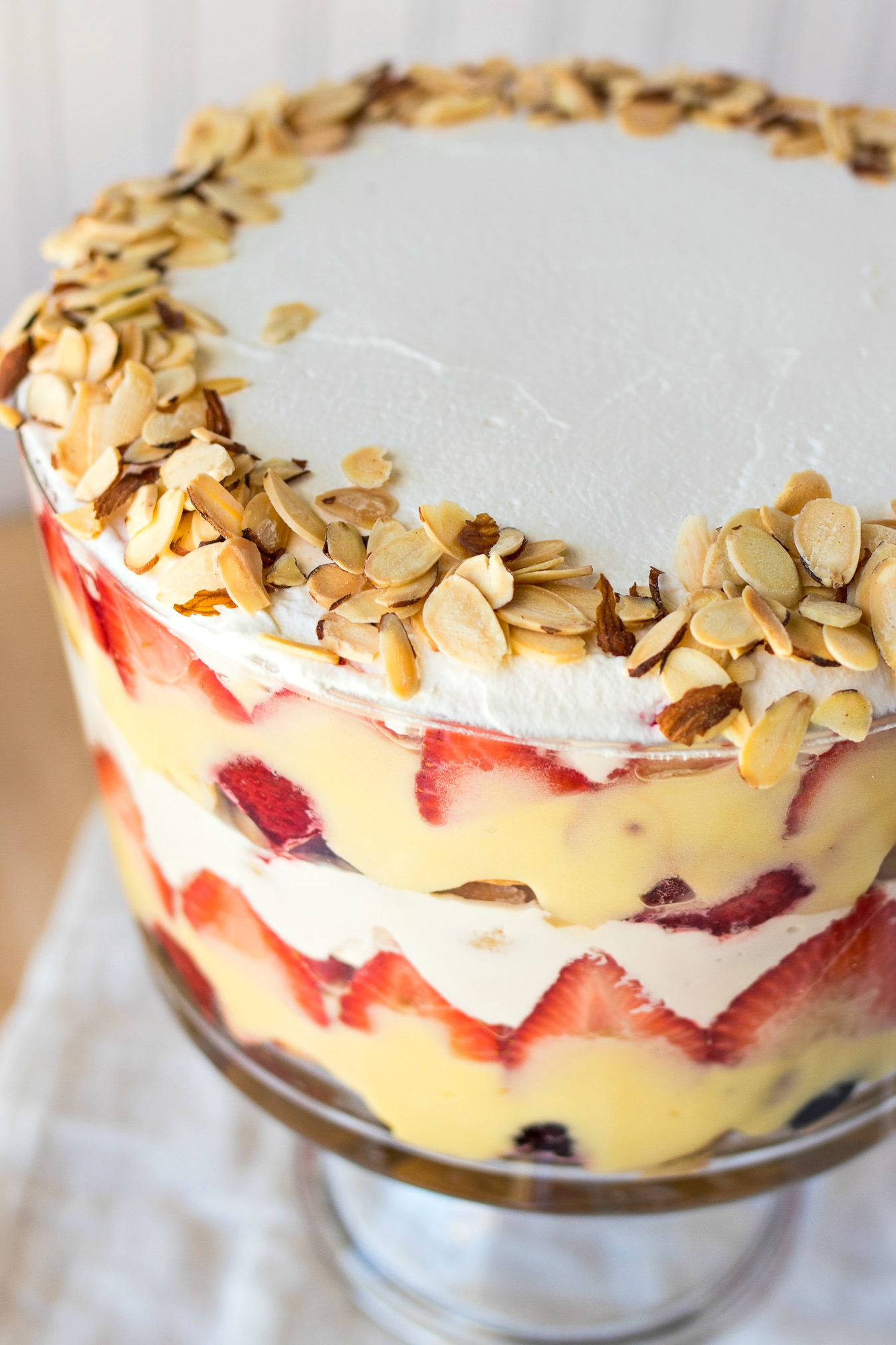 Traditional English Trifle This Traditional English Trifle Is A Layered Dessert Made With Ladyfingers Soaked In Sherry Fresh Berries Vanilla Pudding And Fresh Whipped Cream The Combination Of These Flavors And
